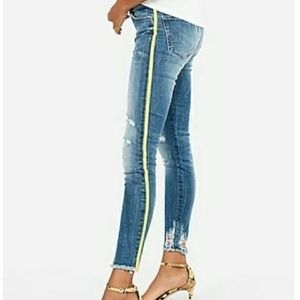 Express Ripped Jeans mid rise leggings